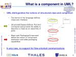 what is a component in uml