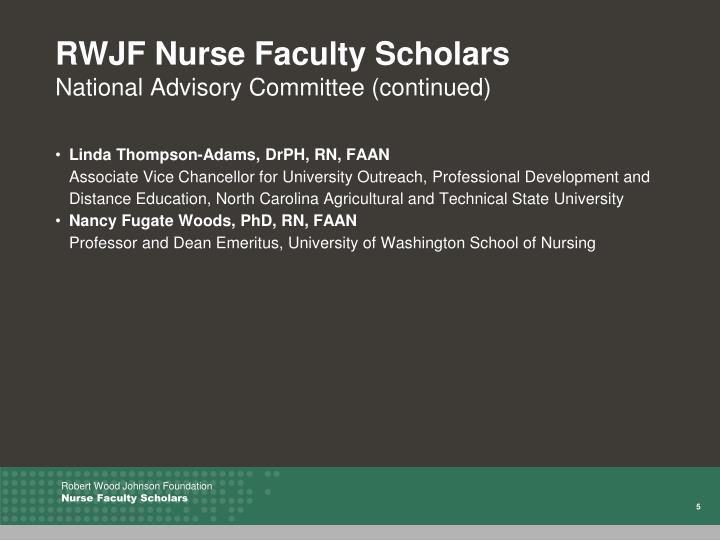 RWJF Nurse Faculty Scholars