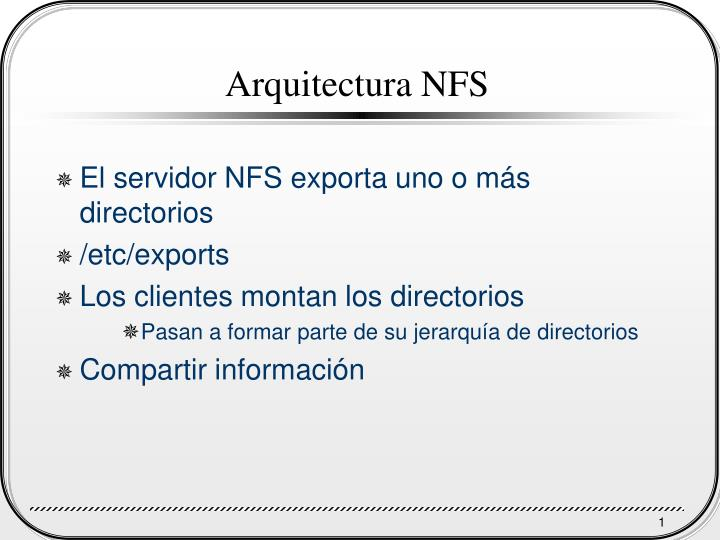 Arquitectura NFS