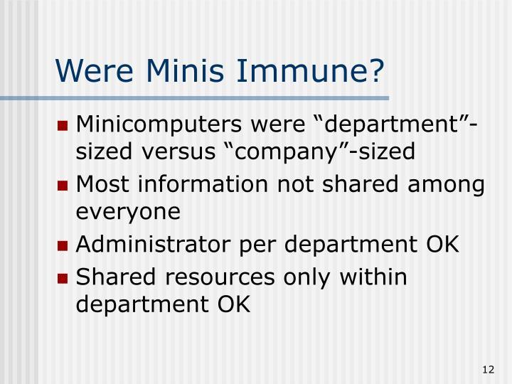 Were Minis Immune?