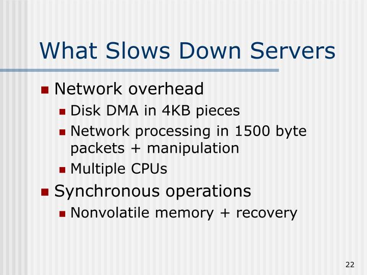 What Slows Down Servers