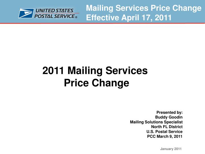 2011 Mailing Services