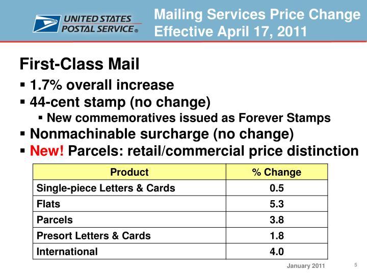 First-Class Mail