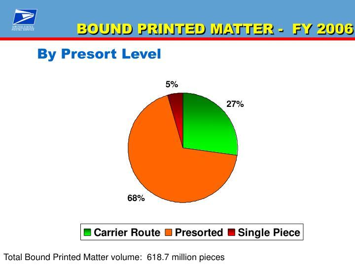 BOUND PRINTED MATTER -  FY 2006