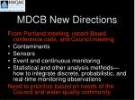 mdcb new directions