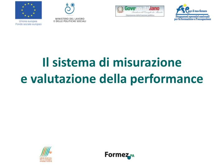 il sistema di misurazione e valutazione della performance