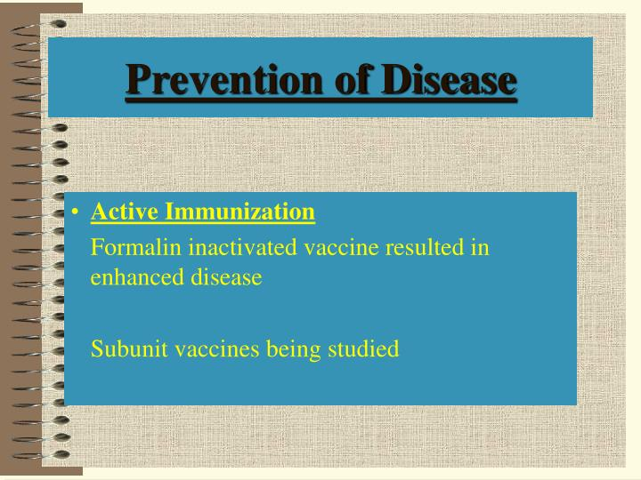 Prevention of Disease