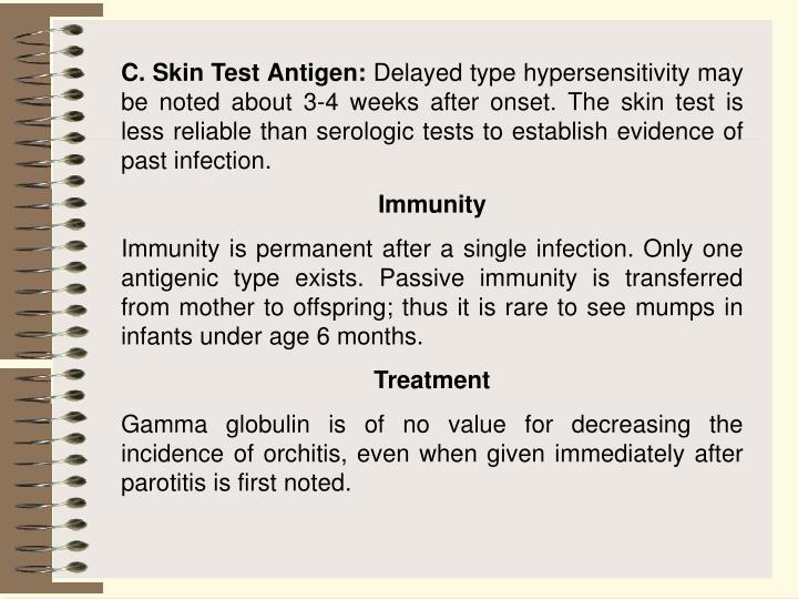 C. Skin Test Antigen: