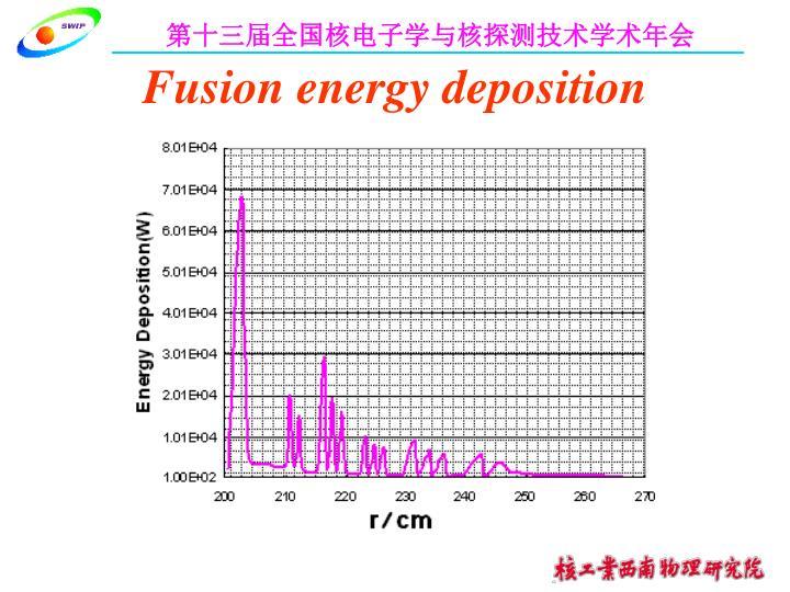 Fusion energy deposition