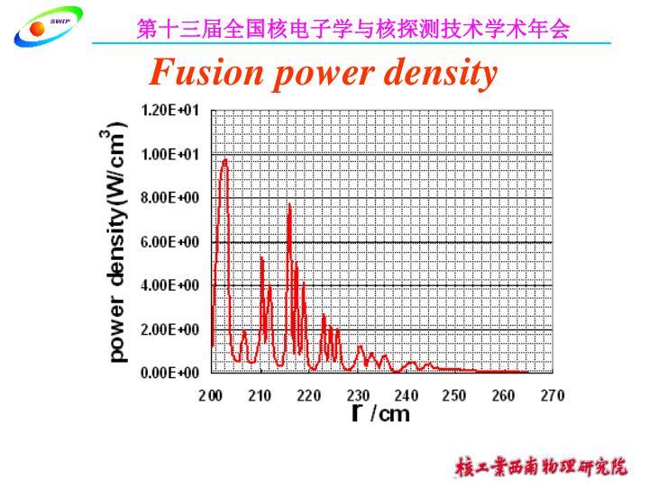 Fusion power density