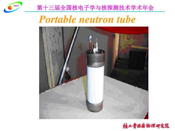 Portable neutron tube