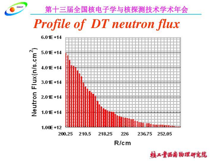 Profile of  DT neutron flux