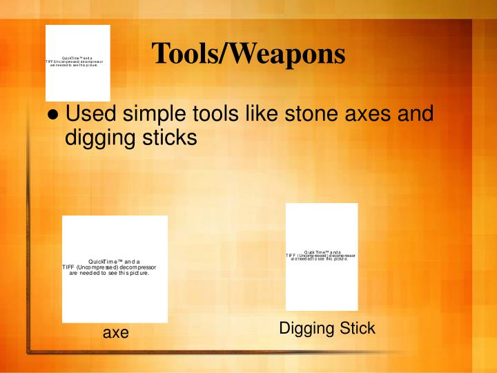 Tools/Weapons