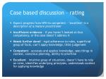 case based discussion rating