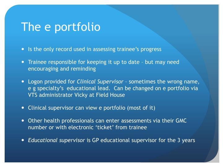 The e portfolio
