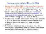 neutrino emissivity by direct urca