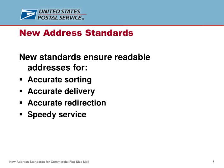 New standards ensure readable addresses for: