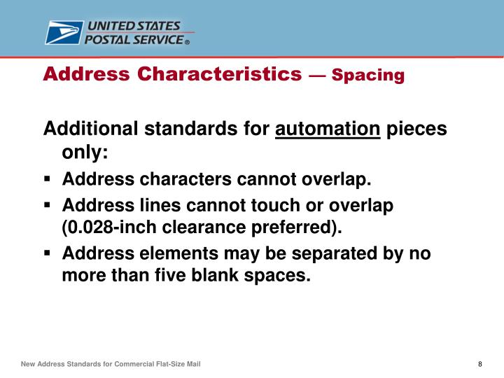 Additional standards for