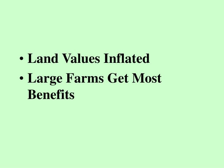 Land Values Inflated