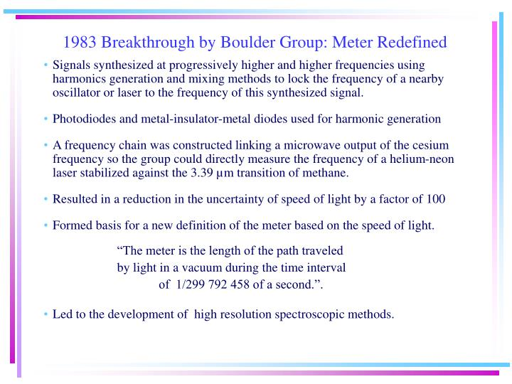 1983 Breakthrough by Boulder Group: Meter Redefined