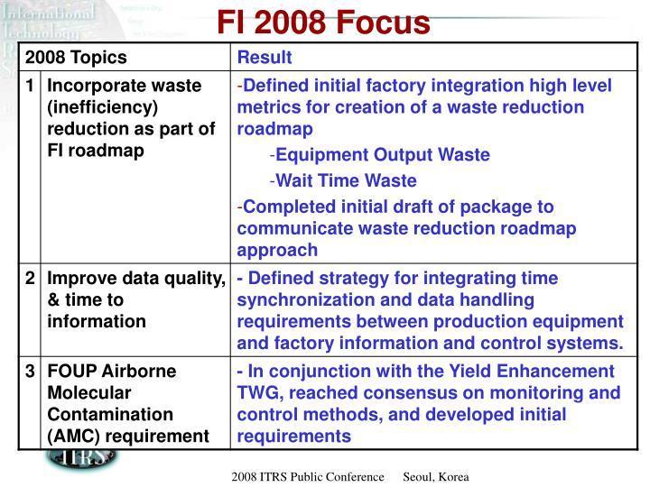 FI 2008 Focus