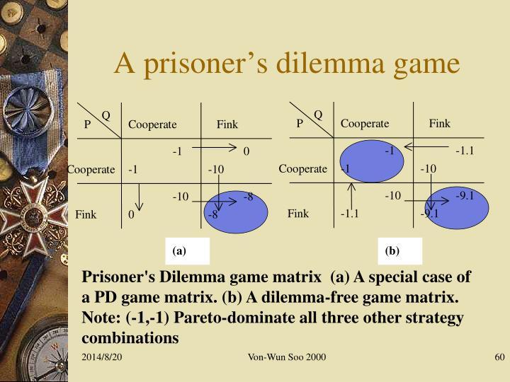 A prisoner's dilemma game