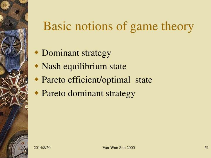 Basic notions of game theory