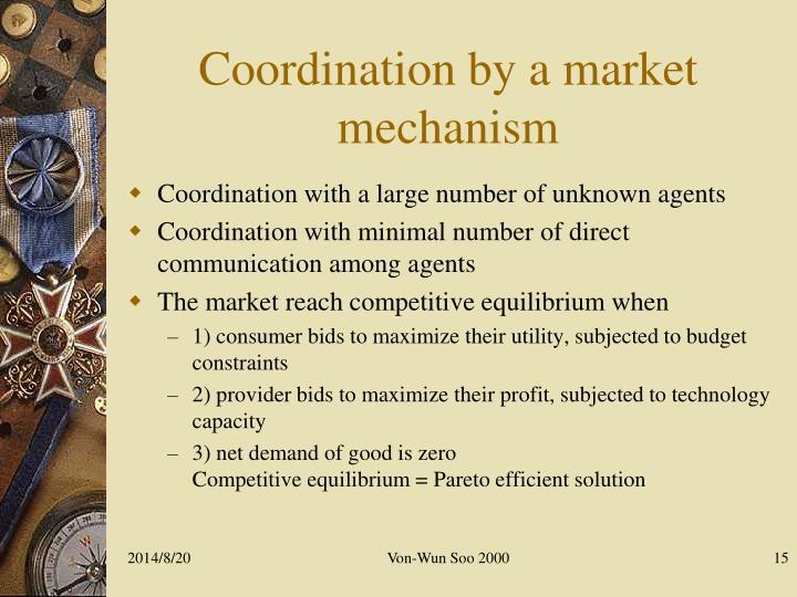 Coordination by a market mechanism