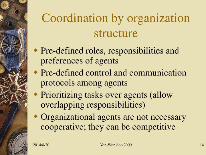 Coordination by organization structure
