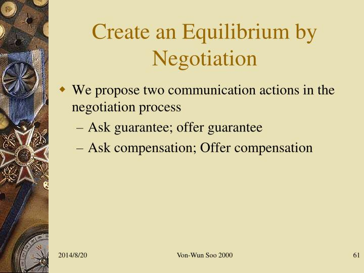 Create an Equilibrium by Negotiation