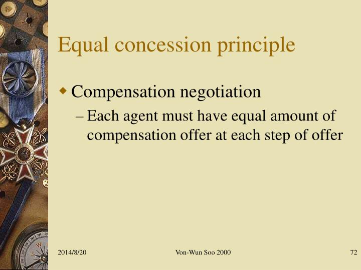 Equal concession principle