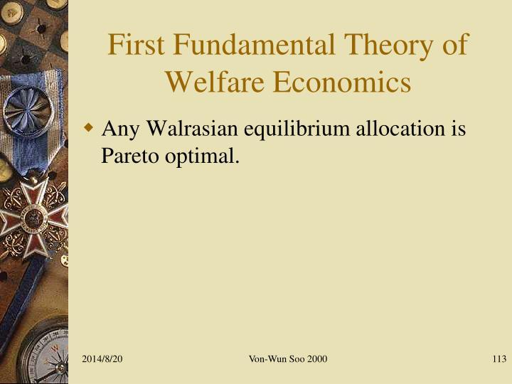 First Fundamental Theory of Welfare Economics
