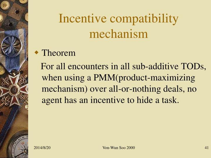 Incentive compatibility mechanism