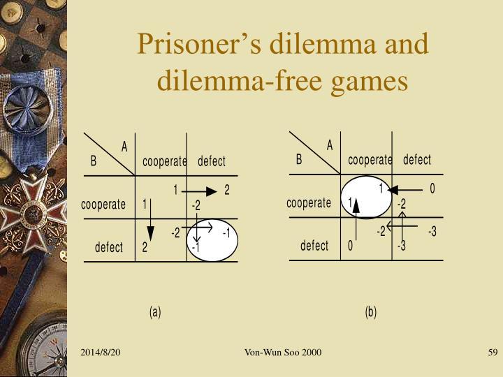 Prisoner's dilemma and dilemma-free games