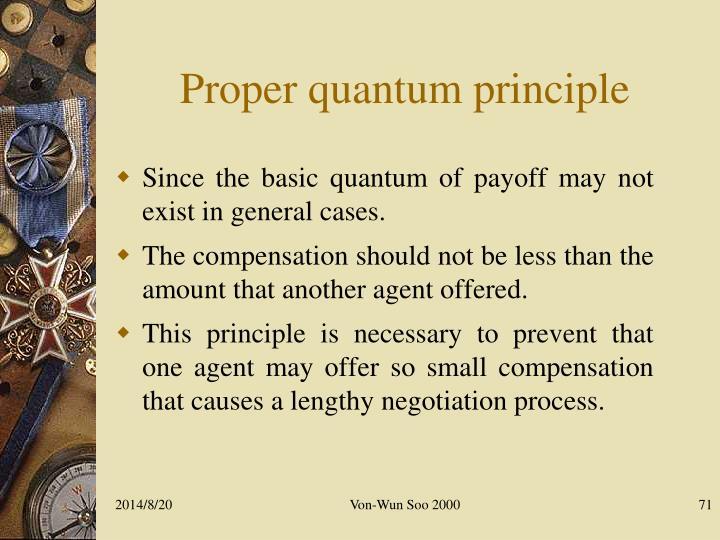 Proper quantum principle