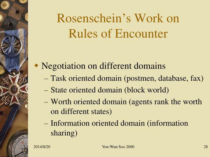 Rosenschein's Work on