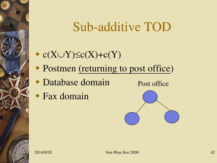 Sub-additive TOD