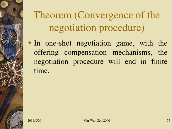 Theorem (Convergence of the negotiation procedure)