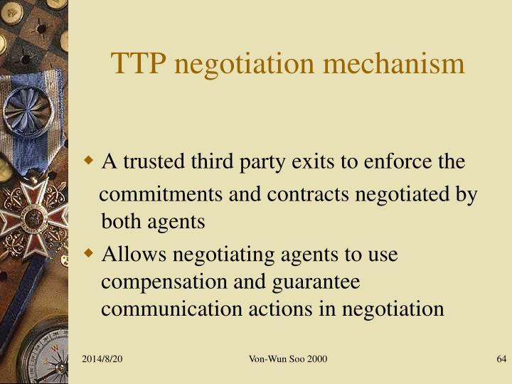 TTP negotiation mechanism