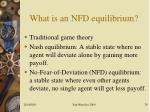 what is an nfd equilibrium
