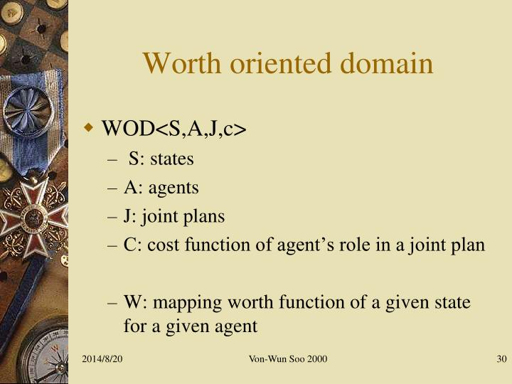 Worth oriented domain