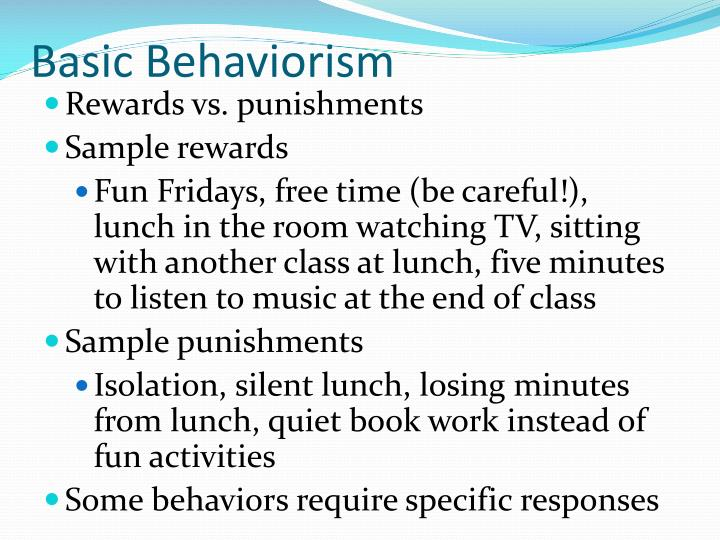 Basic Behaviorism