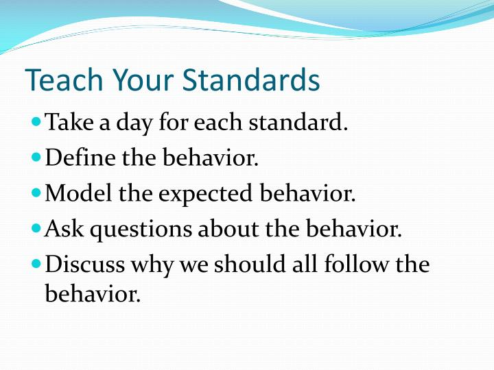 Teach Your Standards