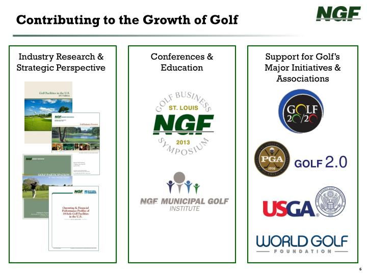 Contributing to the Growth of Golf