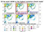 20 km mesh agcm as the highest resolution climate model