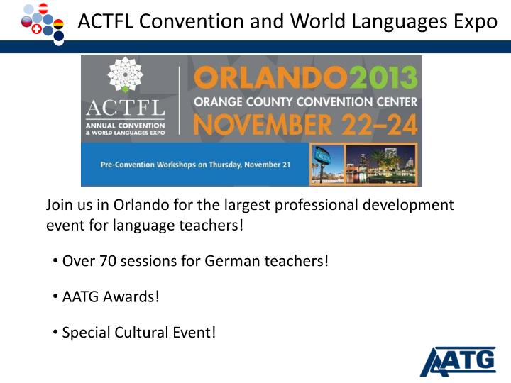 ACTFL Convention and World Languages Expo