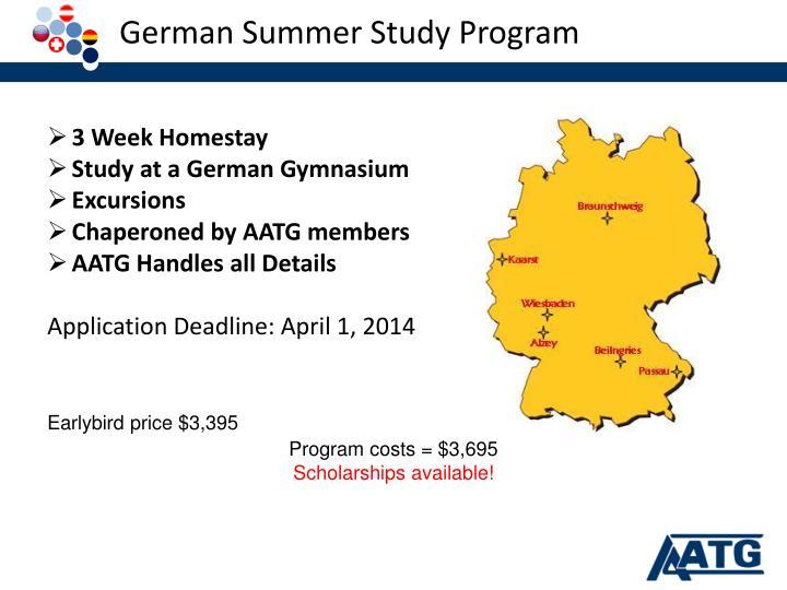 German Summer Study Program