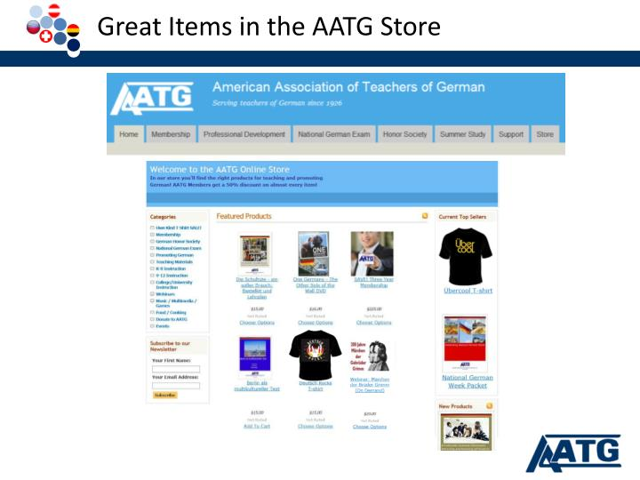 Great Items in the AATG Store