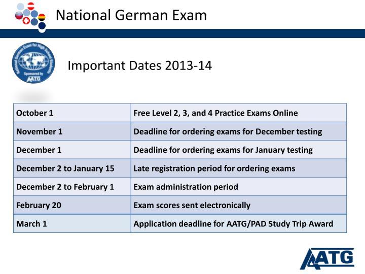 National German Exam