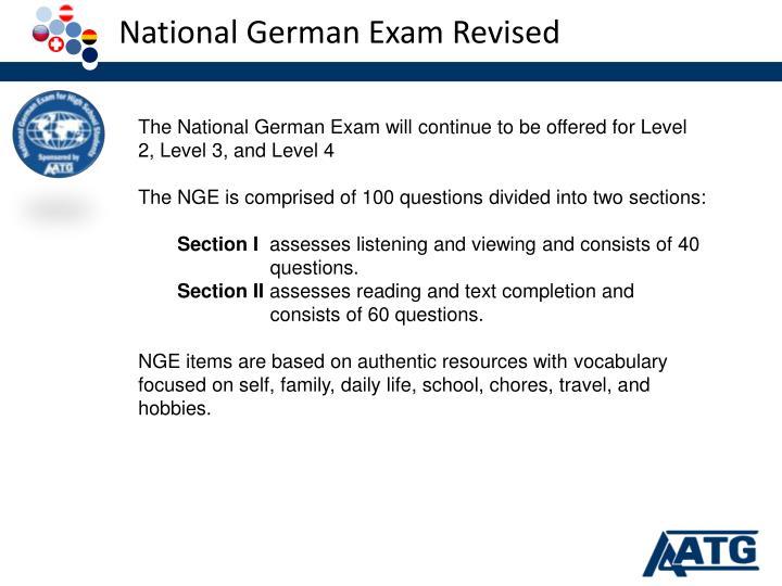 National German Exam Revised